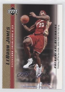 2003-04 Upper Deck Lebron James Phenomenal Beginning - Box Set [Base] - Gold #7 - Lebron James