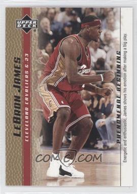 2003-04 Upper Deck Lebron James Phenomenal Beginning - Box Set [Base] - Gold #8 - Lebron James