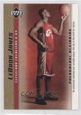 2003-04 Upper Deck Lebron James Phenomenal Beginning Box Set [Base] Gold #1 - Lebron James