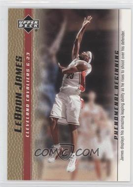 2003-04 Upper Deck Lebron James Phenomenal Beginning Box Set [Base] Gold #12 - Lebron James