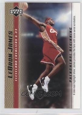 2003-04 Upper Deck Lebron James Phenomenal Beginning Box Set [Base] Gold #13 - Lebron James