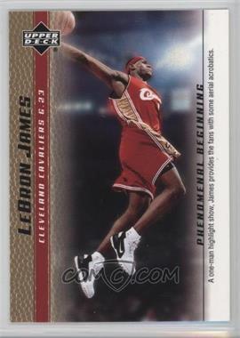 2003-04 Upper Deck Lebron James Phenomenal Beginning Box Set [Base] Gold #13 - Lebron James
