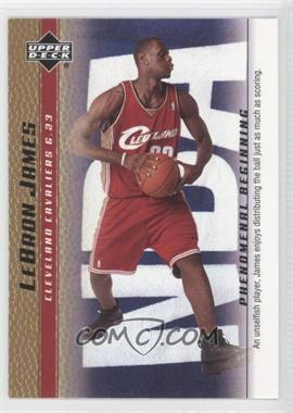 2003-04 Upper Deck Lebron James Phenomenal Beginning Box Set [Base] Gold #15 - Lebron James