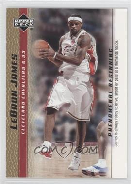 2003-04 Upper Deck Lebron James Phenomenal Beginning Box Set [Base] Gold #16 - Lebron James