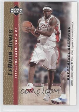 2003-04 Upper Deck Lebron James Phenomenal Beginning Box Set [Base] Gold #16 - Lebron James