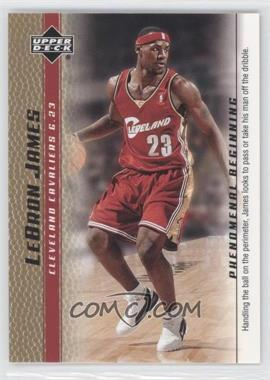 2003-04 Upper Deck Lebron James Phenomenal Beginning Box Set [Base] Gold #2 - Lebron James