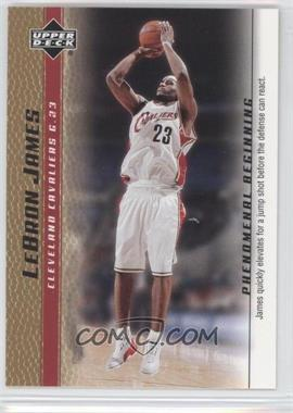2003-04 Upper Deck Lebron James Phenomenal Beginning Box Set [Base] Gold #3 - Lebron James