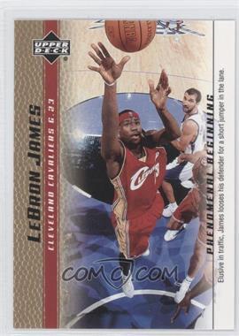 2003-04 Upper Deck Lebron James Phenomenal Beginning Box Set [Base] Gold #6 - Lebron James