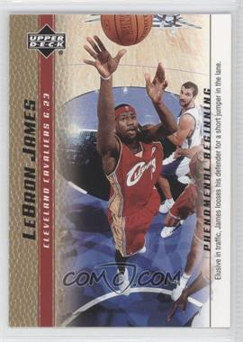 2003-04 Upper Deck Lebron James Phenomenal Beginning Box Set [Base] Gold #6 - Lebron James