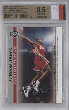 2003-04 Upper Deck Lebron James Phenomenal Beginning Box Set [Base] #13 - Lebron James [BGS 9.5]
