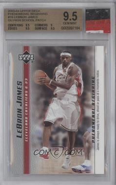 2003-04 Upper Deck Lebron James Phenomenal Beginning Box Set [Base] #16 - Lebron James [BGS 9.5]