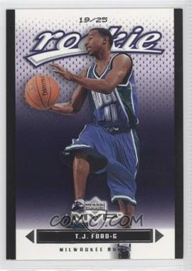 2003-04 Upper Deck MVP - [Base] - Black #208 - T.J. Ford /25