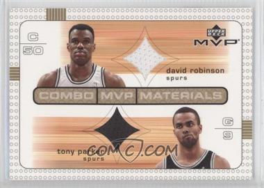 2003-04 Upper Deck MVP - Combo MVP Materials #DR/TP - David Robinson, Tony Parker
