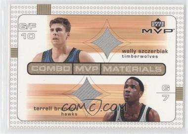 2003-04 Upper Deck MVP - Combo MVP Materials #WS/TB - Terrell Brandon, Wally Szczerbiak