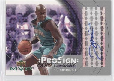 2003-04 Upper Deck MVP - ProSign #JM - Jerome Moiso