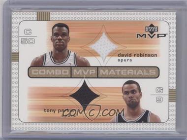2003-04 Upper Deck MVP Combo MVP Materials #DR/TP - David Robinson, Tony Parker