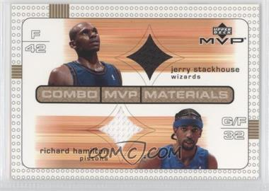 2003-04 Upper Deck MVP Combo MVP Materials #JS/RH - Jerry Stackhouse, Richard Hamilton