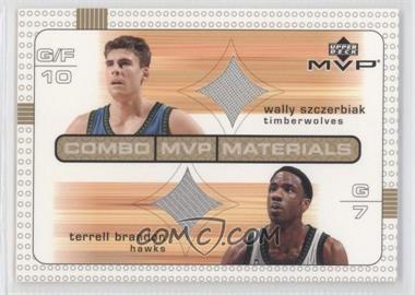 2003-04 Upper Deck MVP Combo MVP Materials #WS/TB - Terrell Brandon, Wally Szczerbiak