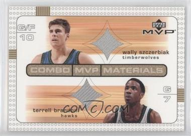 2003-04 Upper Deck MVP Combo MVP Materials #WS/TB - Wally Szczerbiak, Terrell Brandon