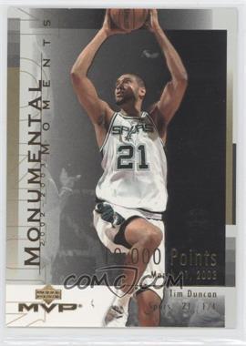 2003-04 Upper Deck MVP Monumental Moments #MM3 - Tim Duncan