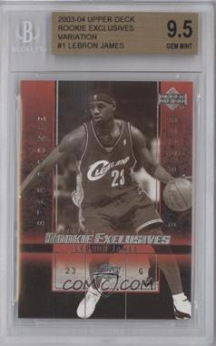 2003-04 Upper Deck Rookie Exclusives - [Base] - Black & White #1 - Lebron James [BGS 9.5]