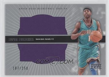 2003-04 Upper Deck Super Swatches #BD-SS - Baron Davis /250