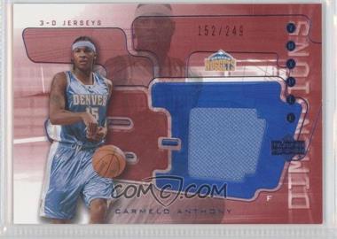2003-04 Upper Deck Triple Dimensions 3-D Memorabilia Jersey #3DJ21 - Carmelo Anthony /249