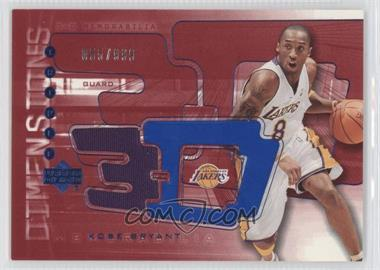 2003-04 Upper Deck Triple Dimensions 3-D Memorabilia Warm-Up #3DW16 - Kobe Bryant /999