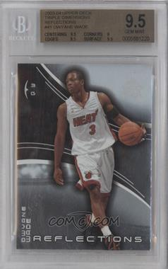 2003-04 Upper Deck Triple Dimensions Reflections #41 - Dwyane Wade [BGS 9.5]