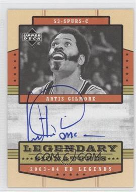 2003-04 Upper Deck UD Legends - Legendary Signatures #LS-AG - Artis Gilmore