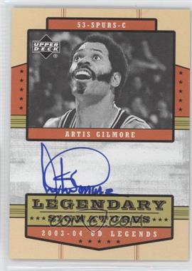 2003-04 Upper Deck UD Legends Legendary Signatures #LS-AG - Artis Gilmore
