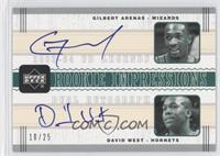 Gilbert Arenas, David West /25