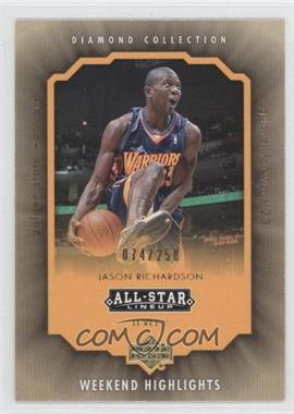 2004-05 All-Star Lineup Weekend Highlights Level 2 Gold #WH-JR - Jason Richardson /250