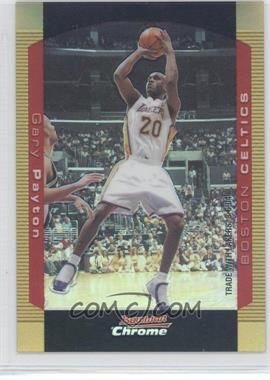 2004-05 Bowman Draft Picks & Prospects Chrome Gold Refractor #10 - Gary Payton /50