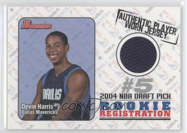 2004-05 Bowman Draft Picks & Prospects Rookie Registration Jerseys #ROR-DEH - Devin Harris