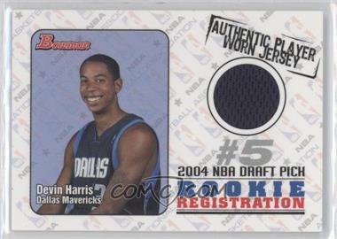 2004-05 Bowman Draft Picks & Prospects Rookie Registration Jerseys #ROR-DEH - Devin Harris