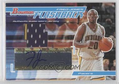 2004-05 Bowman Signature Flashback Autographs #FB-FJ - Fred Jones /60