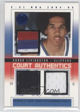 2004-05 E-XL - Court Authentics - Patches/Warm-ups/Jerseys #CA-SL - Shaun Livingston /8