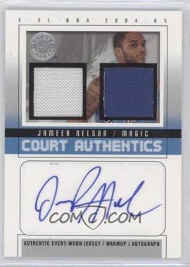 2004-05 E-XL - Court Authentics Autographs - Jerseys/Warm-ups [Autographed] #CAA-JN - Jameer Nelson /30