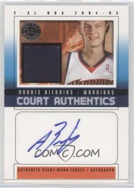 2004-05 E-XL Court Authentics Autographs Jerseys [Autographed] #CAA-AB - Andris Biedrins /70