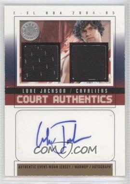 2004-05 E-XL Court Authentics Autographs Jerseys/Warm-ups [Autographed] #CAA-LJ - Luke Jackson /30