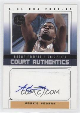 2004-05 E-XL Court Authentics Autographs Silver [Autographed] #CAA-AE - Andre Emmett /200