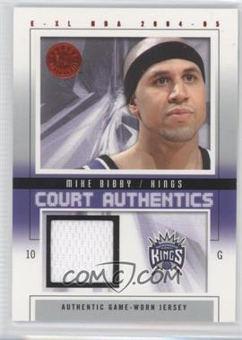 2004-05 E-XL Court Authentics #CA-MB - Mike Bibby /500