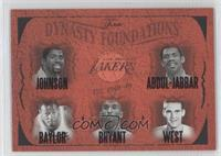 Magic Johnson, Elgin Baylor, Kobe Bryant, Jerry West, Kareem Abdul-Jabbar /500