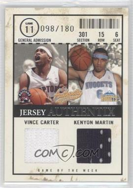 2004-05 Fleer Authentix - Jersey Authentix - Dual #JAGW-CM - Vince Carter /180