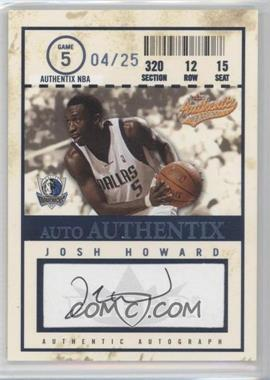 2004-05 Fleer Authentix Auto Authentix 25 [Autographed] #AA-JH - Josh Howard /25