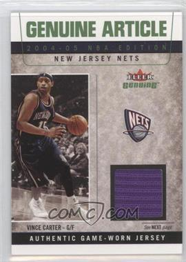 2004-05 Fleer Genuine - Genuine Article Game Used #GA/VC - Vince Carter