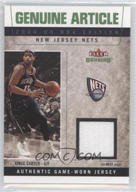 2004-05 Fleer Genuine Genuine Article Game Used #GA/VC - Vince Carter