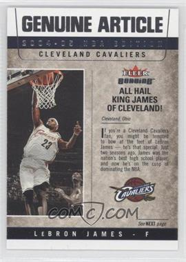 2004-05 Fleer Genuine Genuine Article #2GA - Lebron James
