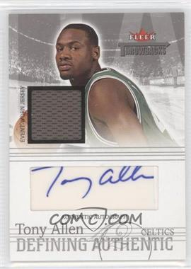 2004-05 Fleer Throwbacks - Defining Authentic - Silver Jersey Autographs #DAA-TA - Tony Allen /199